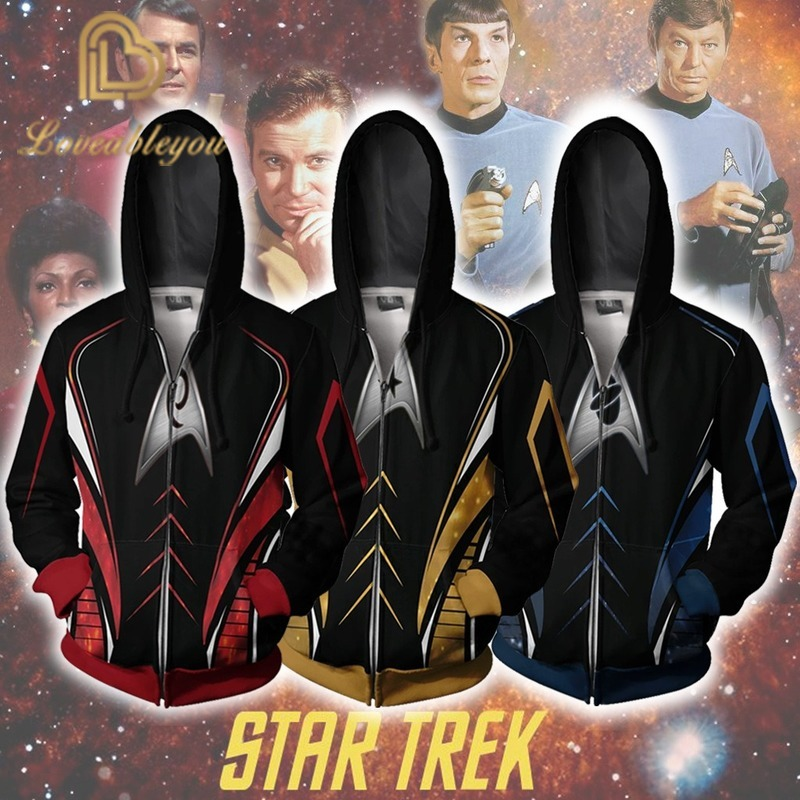 New Star Trek Movie Cosplay men/'s hooded sweater jacket sweatshirt