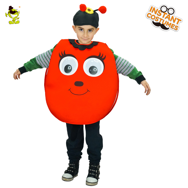 Unisex Fantasia Cute <font><b>Ladybug</b></font> <font><b>Costumes</b></font> <font><b>Kids</b></font> Jumpsuit Fancy Children's Day Halloween Carnival Party Cosplay Fancy Dress Outfits image