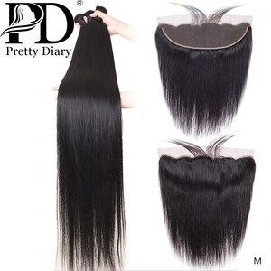 28 30 Polegada pacotes de cabelo humano em linha reta com frontal brasileiro remy tecer cabelo pré arrancado 13x4 rendas frontal com pacotes