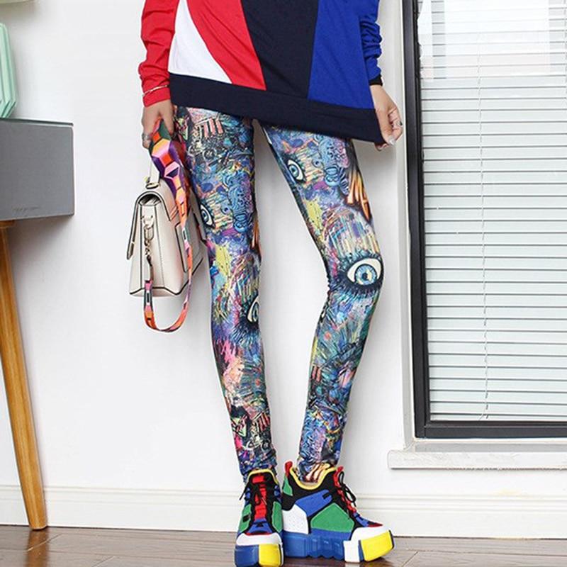 Сексуальные леггинсы с 3D принтом в готическом стиле Харадзюку, плюс размер, штаны с высокой талией, джеггинсы, пуш-ап, леггинсы для фитнеса, ж...