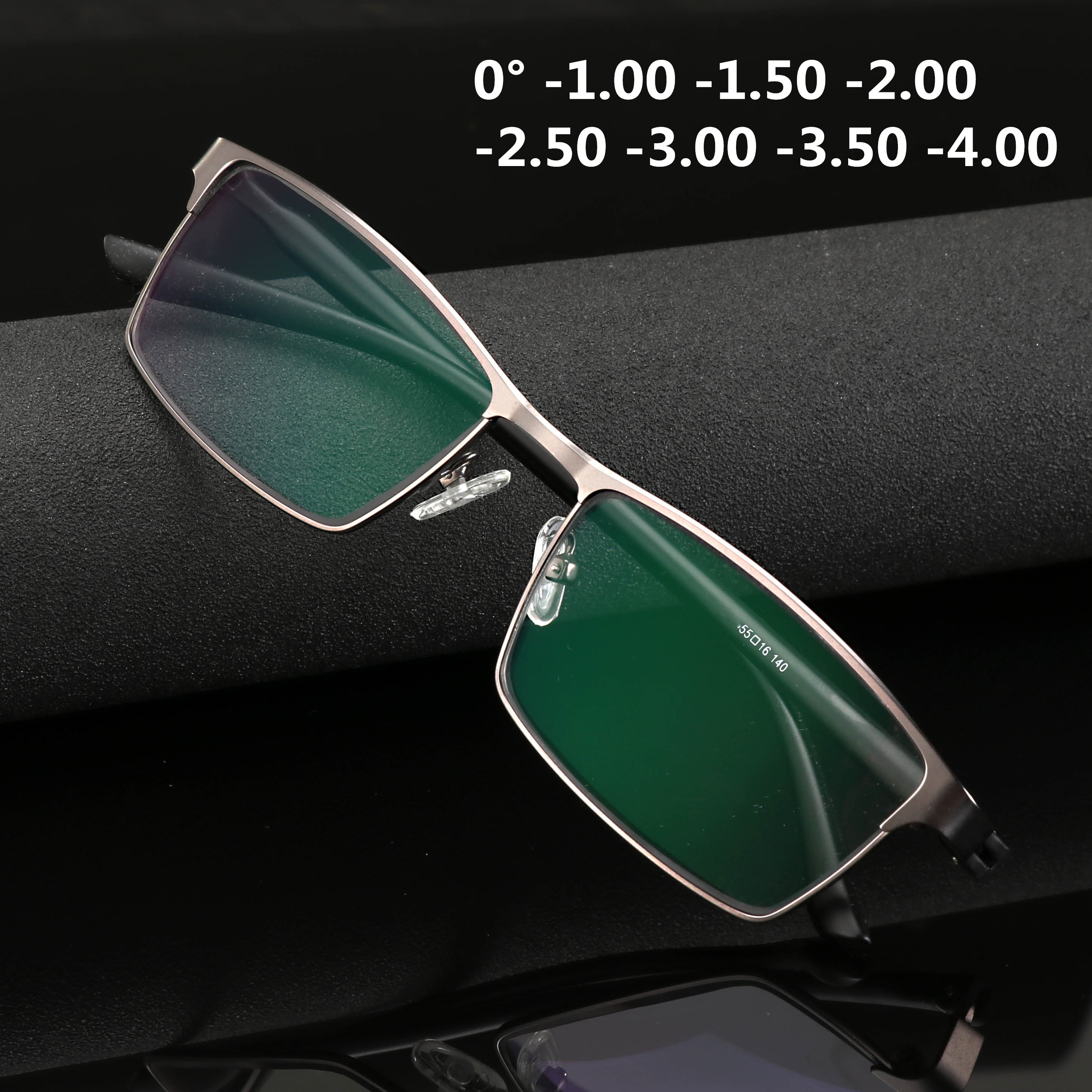 High Quality Anti Blue Light Finished Myopia Glasses Men Fashion Full Frame Short-sighted Eyeglasses -1.0 -1.5 -2.0 To -4.0 TR90