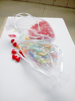 1000pcs 9*12 White gift bags for jewelry/wedding/christmas/birthday Organza Bags with handles Packaging Yarn bag