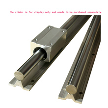 1PCS Linear bearing with aluminum support cylindrical guide SBR10/12/13/16/20/25/30/35/40/50 No slider included