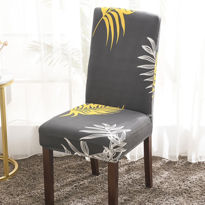 Universal Size Big Elastic Printing Chair Cover Christmas Cheap Stretch Chair Cover Seat Slipcovers For Dining Room Hotel 1