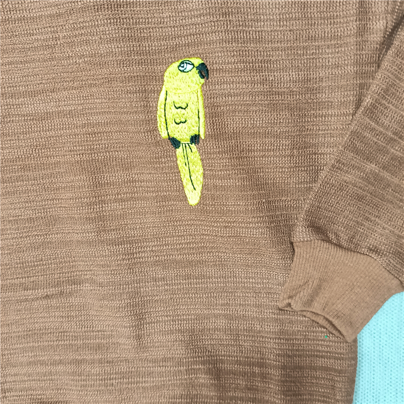 yellow parrot sweaters red/brown for  kids boys girls autumn 6