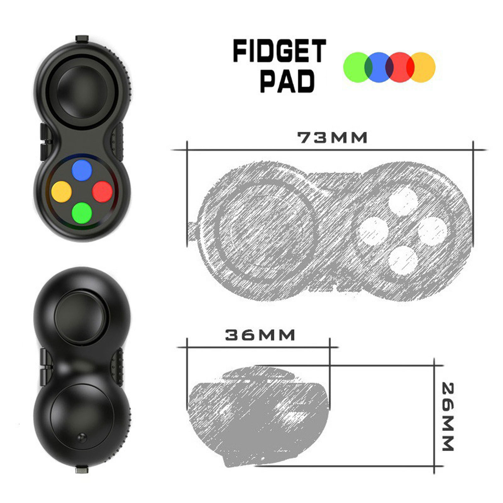 Gamepad Fidget-Toys Tight-Fingers Decompression Relaxing The-Stress Relieve Anxiety Adults img5