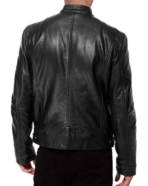 Slim Zipper Leather Jacket 3