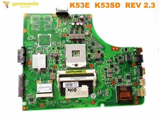 Original for ASUS K53E  laptop motherboard K53E  K53SD  REV 2.3 tested good free shipping