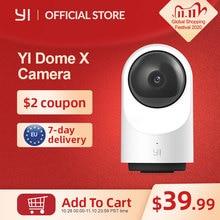 YI Caméra Surveillance WiFi Dôme X, Caméra IP Wi FI Full HD 1080p alimenté par AI, Détection de Personnes, Analyse du Son, Récupération dimages, Time Lapse   Service Cloud Disponible