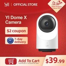 Yi dome câmera x 1080p hd completo ai baseado em dois sentidos de segurança de áudio ip cam humano/pet detecção de visão noturna suporte cartão sd/yi nuvem