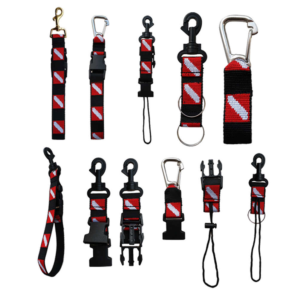 MagiDeal Universale Dive Bandiera Scuba Diving Gear Accessori Holder Keeper Cordino & Clip di Sicurezza Attrezzature