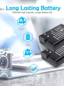 Turpow Battery-Pack Nikon-Camera P7800 Dual-Charger EN-EL14 D550 for LCD USB USB