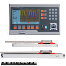 Small linear scale encoder for lathes, metal LCD digital readout package, suitable  milling and grinders,