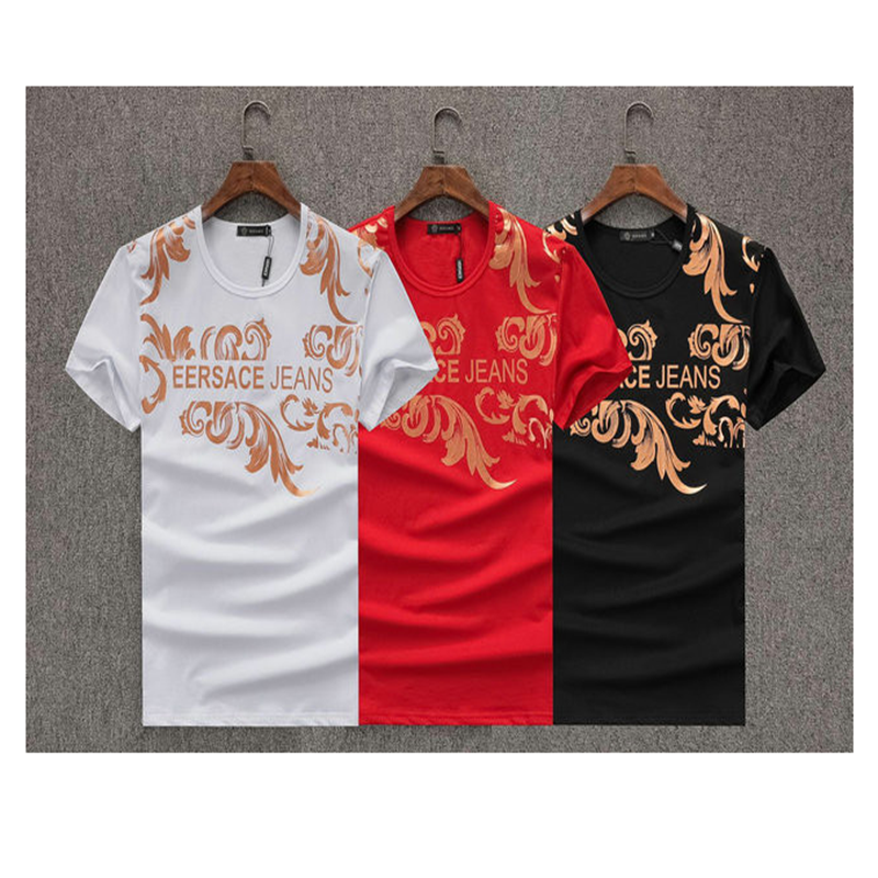 2020 New Summer Fashion Luxury Brand Same Casual Solid Letter Pattern T-shirt