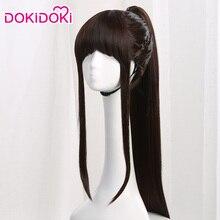Mulan Wig Dokidoki Chinese-Style Hair-Ponytail Black Cosplay Princess Movie Long