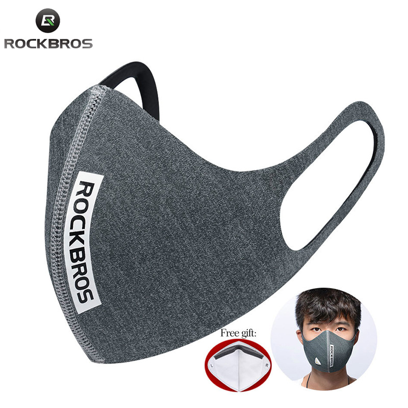 ROCKBROS Bike Face Mask With Filter Activated Carbon Running Cycling Anti-Pollution Anti Dust Bicycle Face Mask Bike Accessories