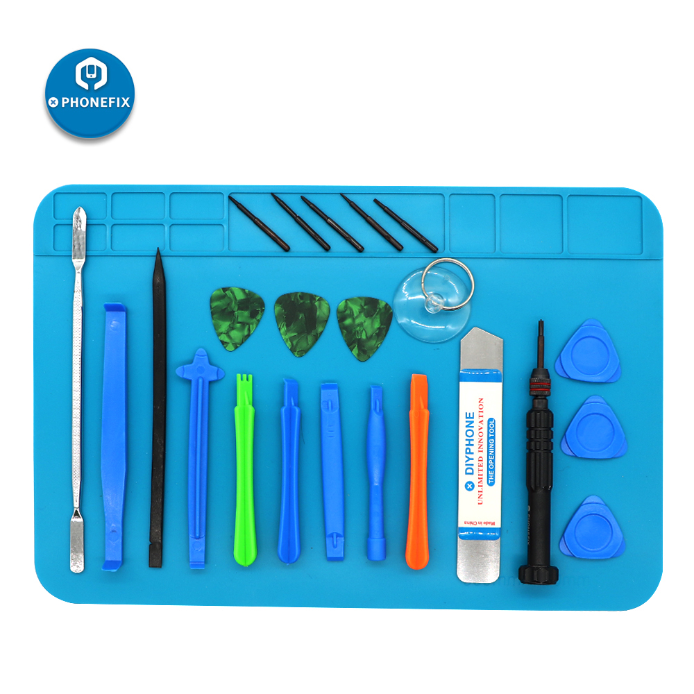 PHONEFIX Phone Repair Tool Kit For IPhone Android Phones Tablet PC Disassembly With Anti-static Mat Precision Screwdriver Set