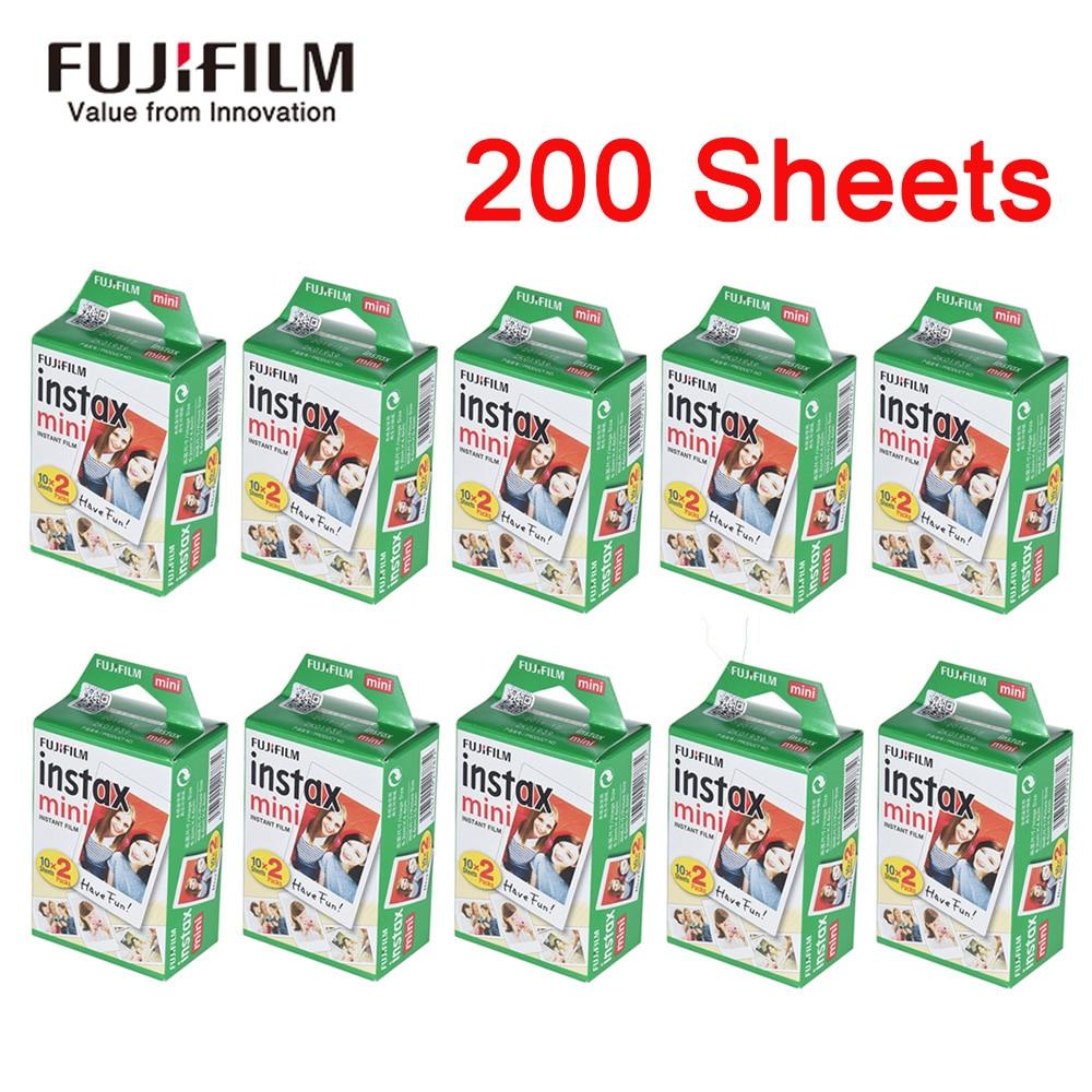 Papel instantâneo de filme para fujifilm instax, mini álbum de fotos branco instantâneo de 10-200 folhas, impressão instantânea para fuji instax mini 9 8 25 90 7s fims