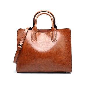 Женская сумка Западная Мода Новый стиль масло воск кожа большая сумка Toth женская сумка на плечо высокое качество повседневные женские сумк...