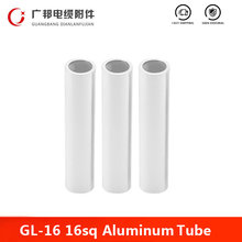 GL-16 16mm2 Aluminum Tube No Insulation Wire Cable Terminal Hole Passing Connector Sleeve Tube Lug Crimp Terminal Factory Direct(China)