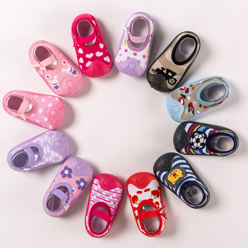 Baby Indoor Shoes Non-slip Baby Socks Shoes Newborn Shoes Baby Toddler Shoes Soft Rubber Bottom Floor Socks