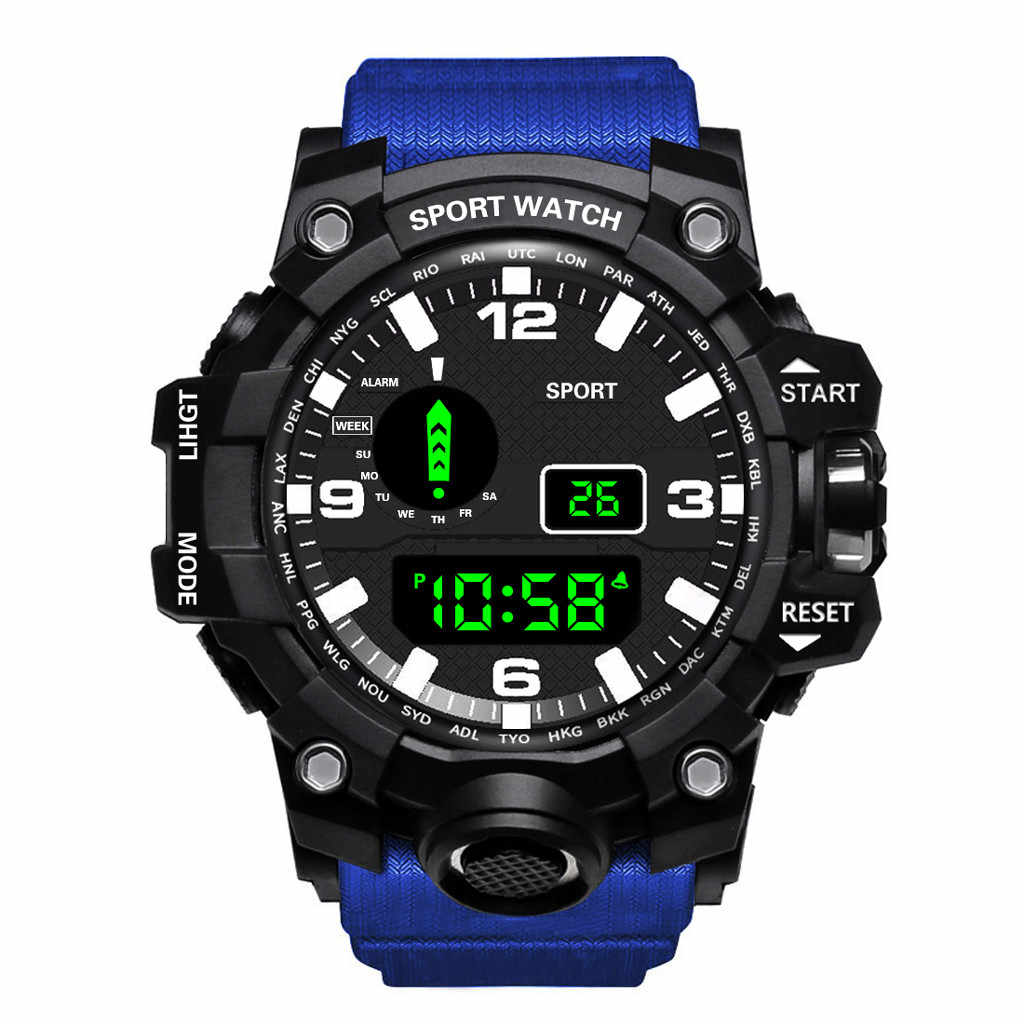 Luxury Mens Jam Tangan LED Digital Watch Date Olahraga Pria Jam Tangan Outdoor Elektronik Kasual Wanita Jam