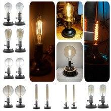 E27 vintage retro edison lâmpadas espiral luz artesanal de vidro estilo industrial T30-225 g80 tungstênio lâmpada pingente iluminação
