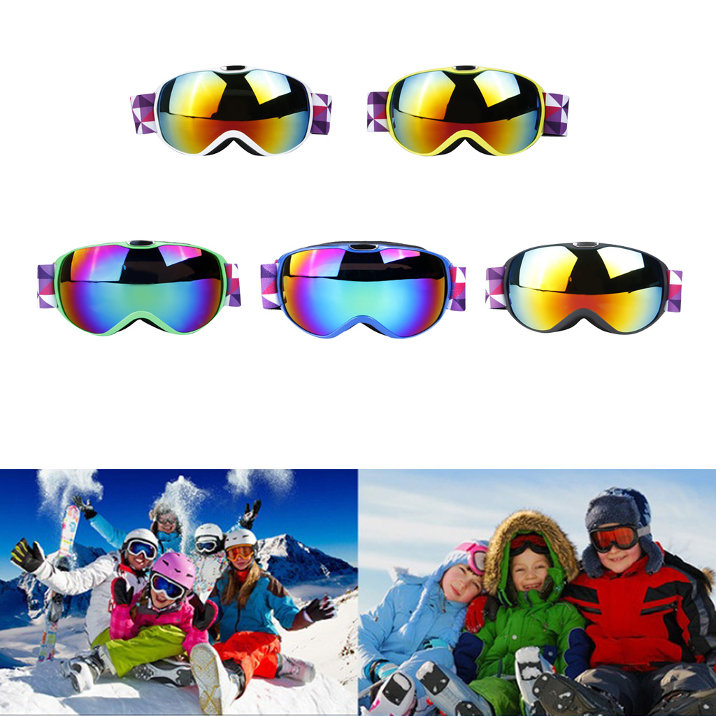Winter Snow Sports Snowboard Glasses Goggles With Anti-Fog UV Protection Double Lens For Kids Unisex Snowmobile Skiing Skating