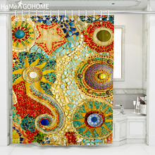 Bohemian Mandala Decorative Shower Curtain 3D Bath Curtain Waterproof Mildewproof Bathroom Curtains Colorful douchegordijn 8Size unique mandala mildewproof shower curtain