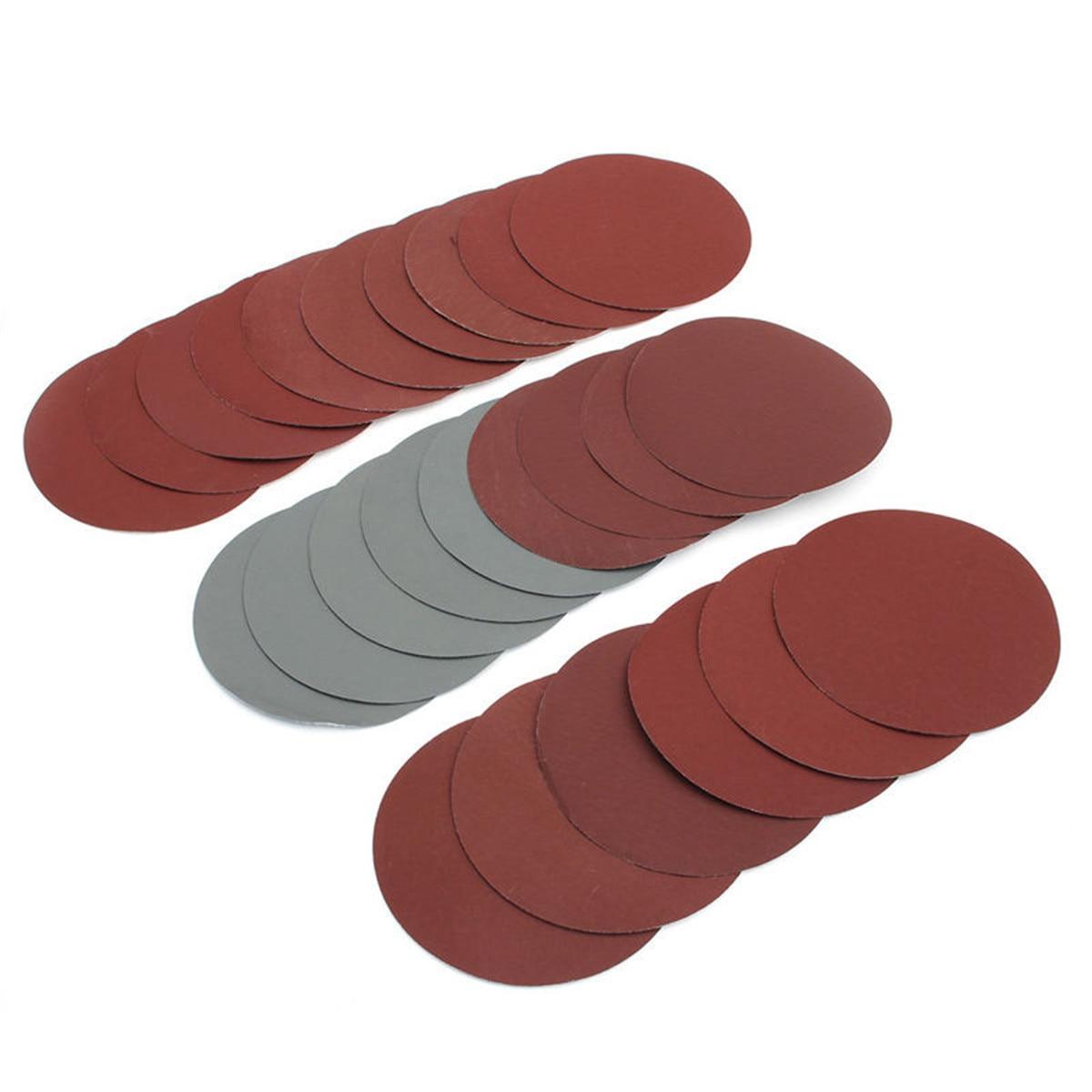 25pcs/Set Round Sandpaper Disk Sand Sheets Grit 600-3000 Hook Loop Sanding Disc For Sander Grits Abrasive Tools 150mm 6 Inch