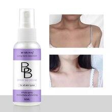 BB Creanm, спрей, Осветляющий, база, консилер, стойкий, для лица, отбеливающий, тональный крем, BB крем, косметический, простой в использовании
