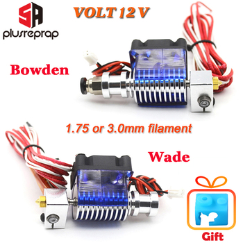 Lastest V6 J-head All metal Hotend Wade or Bowden Extruder Heater Thermistor Fan Nozzle Heat sink for 1.75/ 3mm 3D Printer Part 3d printer parts cyclops 2 in 1 out 2 colors hotend 0 4 1 75mm 12v 24v fan bowden with titan bulldog extruder multi color nozzle