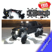 RC Car LED Light Kit for Traxxas benz TRX6 G63 AMG 6x6 Wheel Eyebrow Lamp WATERPROOF upgrade parts