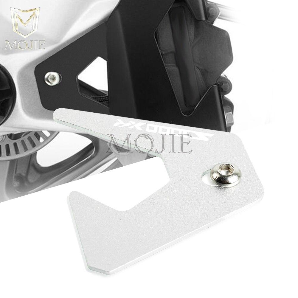 Support de plaque de Support de b/équille Lat/érale Aluminium Plaque Agrandir Pad Pour B M W S1000XR 2014-2019