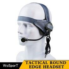 Тактический военный тактический гарнитура микрофон используется