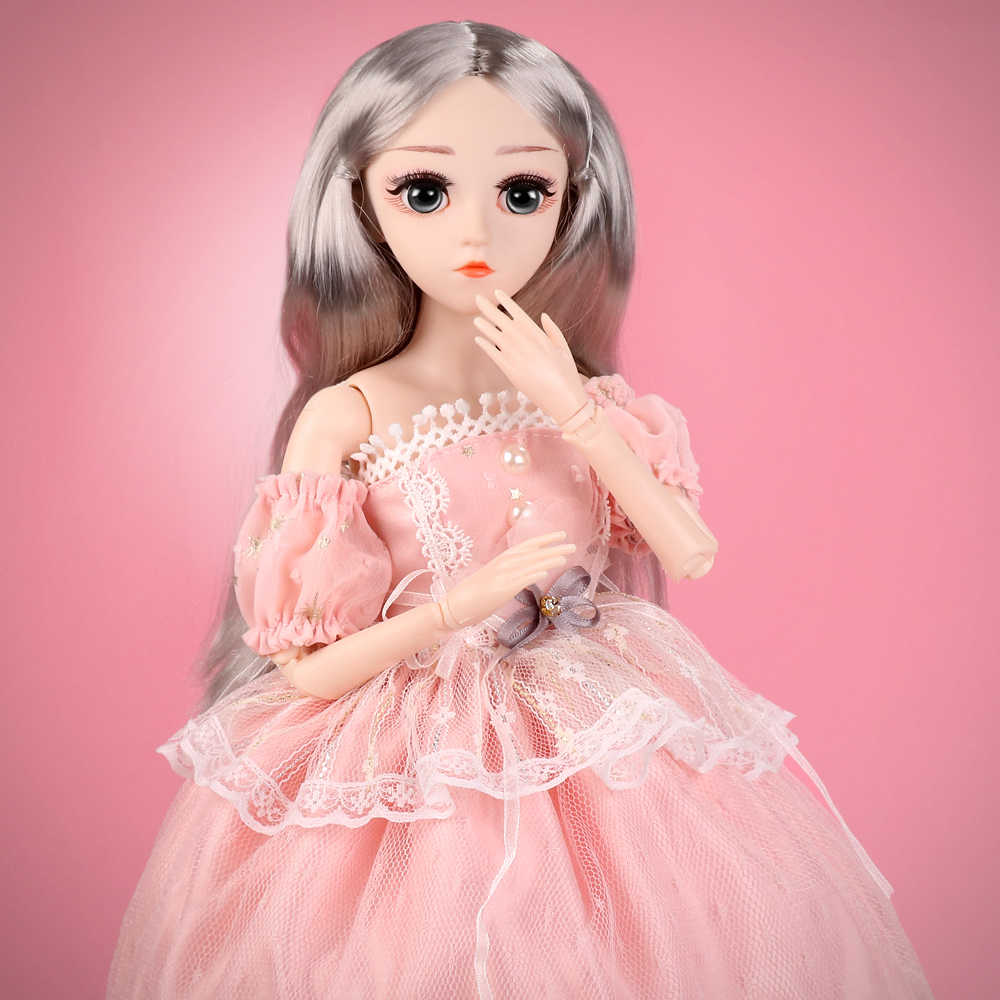 Muñeca UCanaan BJD, muñecas SD 1/4 de 18 pulgadas, muñecas articuladas con bola de 18 pulgadas con ropa, atuendo, zapatos, peluca, maquillaje de pelo, el mejor regalo para niñas