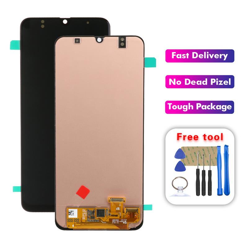 SUPER AMOLED LCD For Samsung Galaxy A30 A305/DS A305F A305FD A305A LCD Display Touch Screen Digitizer Assembly Free Tools