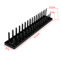 1/2 Inch Metric 34 Slot Socket Organizer Storage Rail Tray Holder Shelf Rack Machinery Parts for Metric Deep or Standard Sockets