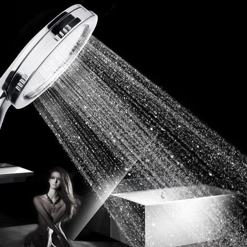 SHAI New arrival High Pressure Shower Head Bathroom Water Saving Shower Head Powerful Boosting Spray Bath Handheld Shower Head 1