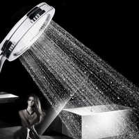 SHAI New arrival High Pressure Shower Head Bathroom Water Saving Shower Head Powerful Boosting Spray Bath Handheld Shower Head