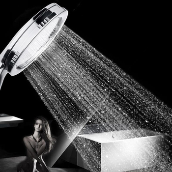 SHAI New arrival High Pressure Shower Head Bathroom Water Saving Powerful Boosting Spray Bath Handheld - discount item  20% OFF Bathroom Fixture