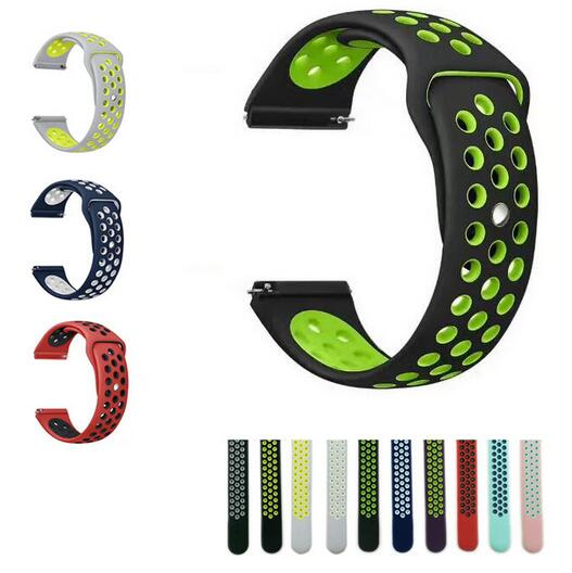 22mm 20 Silicone For Samsung Gear S3 Sport S2 Classic Frontier Galaxy Watch 42 46mm Band Strap Huami Amazfit Gtr Bip 2 Huawei Gt