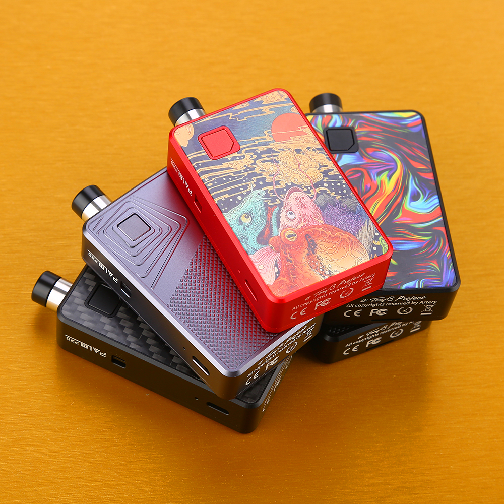 Hot Original Da Artéria PAL 2 Pod Pro Kit wi/1000 mAh Battery & 3ml Pod MTL & DTL e-cig Vape Kit PAL II Pro Vs Nano Arrastar/Orquídea QI