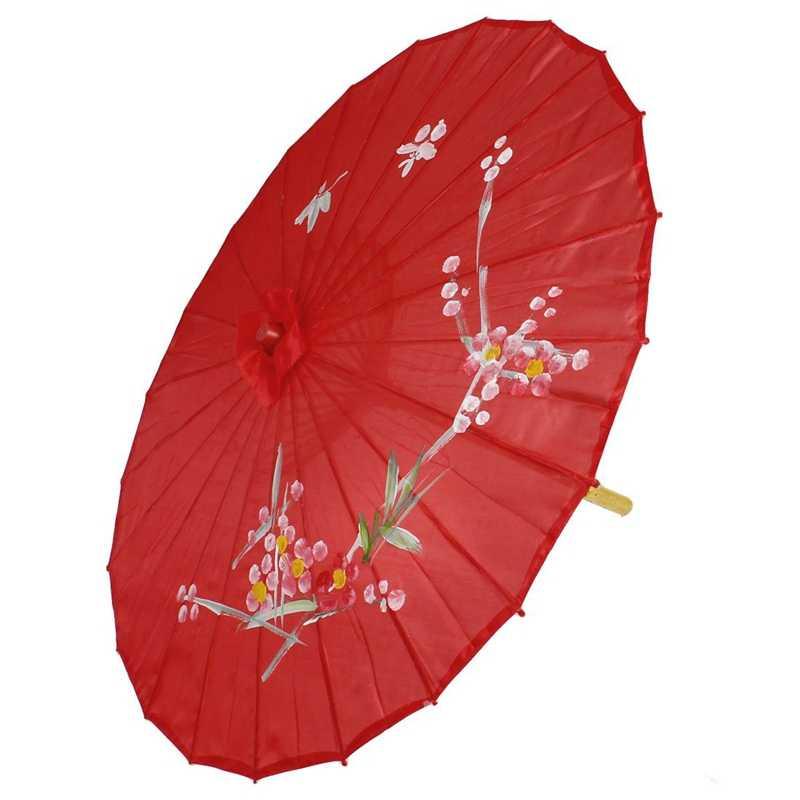 """زهر البرقوق نمط الخيزران الأحمر 31.5 """"ضياء مظلة الشرقية المظلة"""