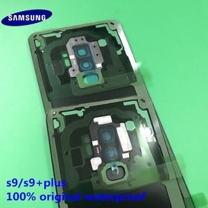 Image 3 - الأصلي جديد سامسونج غالاكسي S9 plus S9 + الغطاء الخلفي الباب الخلفي الإسكان غطاء الزجاج الخلفي غطاء البطارية قطع غيار سامسونج S9