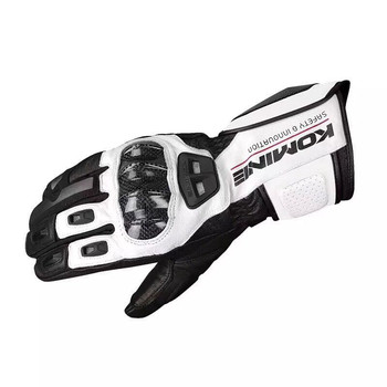Komine GK 198 Scooter Motocross Automotive Leather Glove Touch Screen Gloves