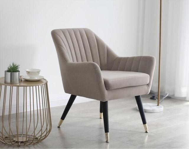 Mid-Century Modern Fabric Upholstered Accent Chair  2