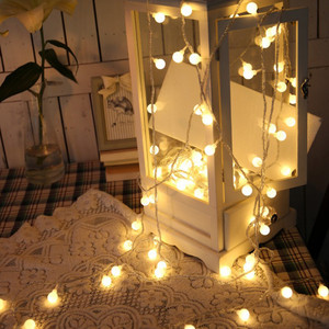 Ball String Lights Starry Christmas Lights 10 LED String Lights wedding party garland light Home Decoration