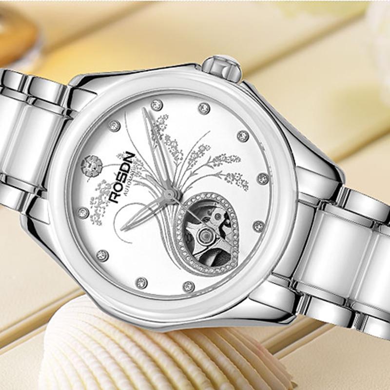 New FRANCE ROSDN Women's Watches Luxury Brand With MIYOTA Automatic Mechanical Watch Women Diamond Skeleton Sapphire Clock R2080