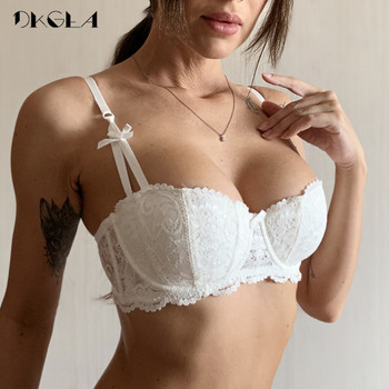 New Half Cup Bra Push Up White Women Lingerie Embroidery Brassiere Thin Cotton Comfortable Sexy Underwear Lace Bras A B C D Cup 1